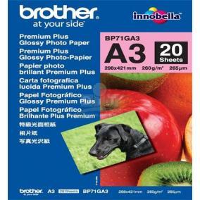 BP71G Fotópapír, tintasugaras, A/3, 260 g, fényes,