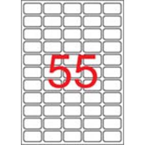 Etikett, univerzális, 36,8x23,8 mm, eltávolítható, kerekített sarkú, APLI, 5500 etikett/csomag [100 lap]