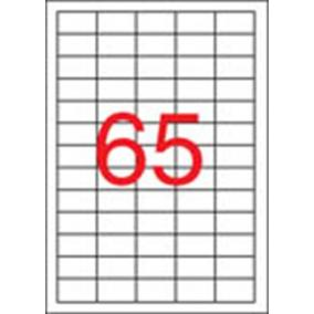 Etikett, univerzális, 38x21,2 mm, eltávolítható, APLI, 6500 etikett/csomag [100 lap]
