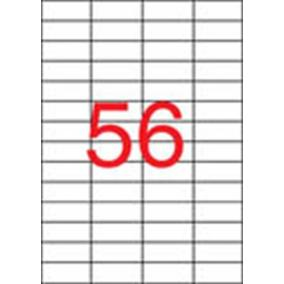 Etikett, univerzális, 52,5x21,2 mm, eltávolítható, APLI, 5600 etikett/csomag [100 lap]