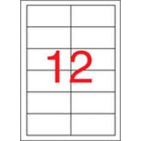 Etikett, univerzális, 97x42,4 mm, eltávolítható, APLI, 1200 etikett/csomag [100 lap]