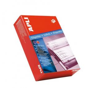 Etikett, mátrixnyomtatókhoz, 1 pályás, 210x148,1 mm, APLI, 1000 etikett/csomag [500 ív]