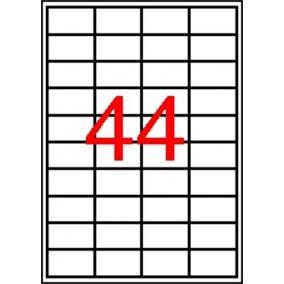 Etikett, 48,5x25,4 mm, poliészter, kerekített sarkú, APLI, átlátszó, 440 etikett/csomag [10 lap]