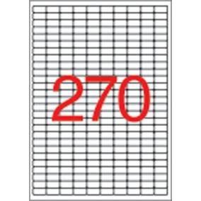 Etikett, univerzális, 17,8x10 mm, eltávolítható, kerekített sarkú, APLI, 6750 etikett/csomag [25 lap]