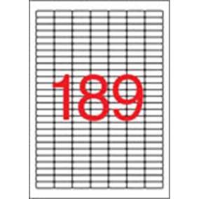 Etikett, univerzális, 25,4x10 mm, eltávolítható, kerekített sarkú, APLI, 4725 etikett/csomag [25 lap]