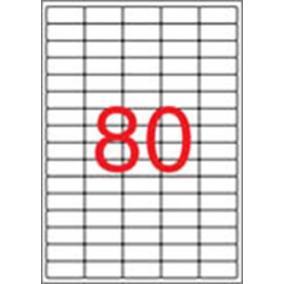 Etikett, univerzális, 35,6x16,9 mm, eltávolítható, kerekített sarkú, APLI, 2000 etikett/csomag [25 lap]