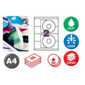 APLI CD/DVD cimke matt eltávolítható 50db