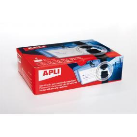 Névkitűző, nyakba akasztható, biztonsági csattal, 90x56 mm, APLI [25 db]