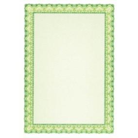 Oklevélpapír, A4, 115 g, APLI, smaragdzöld [10 lap]