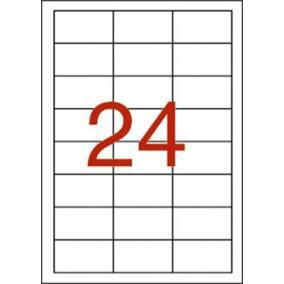 Etikett, 64,6x33,8 mm, poliészter, időjárásálló, APLI, 480 etikett/csomag [20 lap]