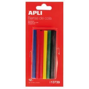 Ragasztó stick, színes, APLI [12 db]