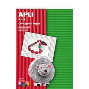 Hullámkarton papír, 297x210 mm, 10 ív, APLI, vegyes színek [10 db]