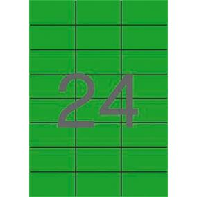 Etikett, 70x37 mm, színes, APLI, zöld, 480 etikett/csomag [20 lap]