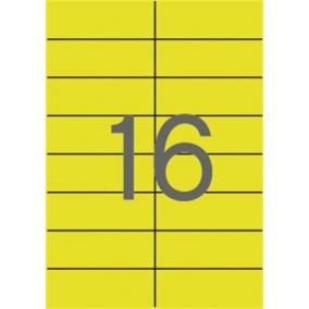 Etikett, 105x37 mm, színes, APLI, sárga, 320 etikett/csomag [20 lap]