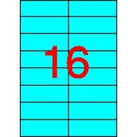 Etikett, 105x37 mm, színes, APLI, kék, 320 etikett/csomag [20 lap]