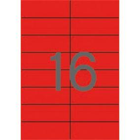 Etikett, 105x37 mm, színes, APLI, piros, 320 etikett/csomag [20 lap]