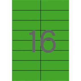 Etikett, 105x37 mm, színes, APLI, zöld, 320 etikett/csomag [20 lap]