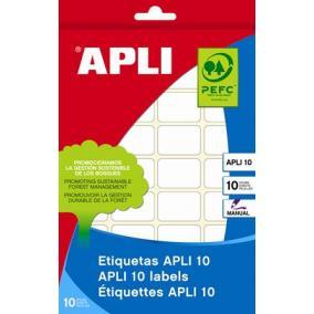 Etikett, 20x50 mm, kézzel írható, kerekített sarkú, APLI, 150 etikett/csomag [10 lap]