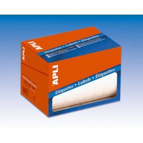 Etikett, 25 mm kör, kézzel írható, tekercsben, APLI, 2400 etikett/csomag