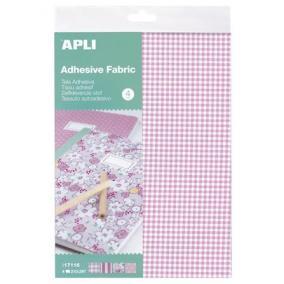 Textil lap, öntapadós, 210x297 mm, APLI, 4 különböző minta [4 ív]