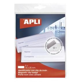 Azonosítókártya tartó, mágneses, 75x28 mm [5 db]