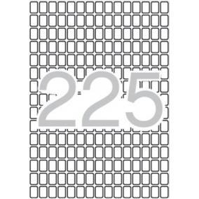 Etikett, 8x12 mm, kerekített sarkú, A5 hordozón, APLI, 3375 etikett/csomag [15 lap]