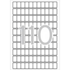 Etikett, 12x18 mm, kerekített sarkú, A5 hordozón, APLI, 1650 etikett/csomag [15 lap]
