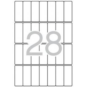 Etikett, 20x50 mm, kerekített sarkú, A5 hordozón, APLI, 420 etikett/csomag [15 lap]