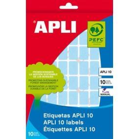 Etikett, 25x40 mm, kézzel írható, színes, kerekített sarkú, APLI, zöld, 128 etikett/csomag [8 lap]