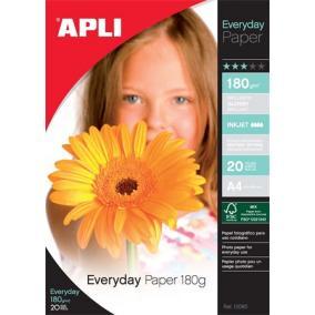 Fotópapír, tintasugaras, A4, 180 g, fényes, APLI