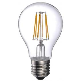 LED-A60-6W FLT E27, 2700K, filament retro LED izzó
