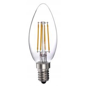 LED-C35-4W FLT E14, 2800K, filament retro LED izzó
