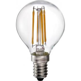 LED-G45-4W FLT E14, 2700K, filament retro LED izzó