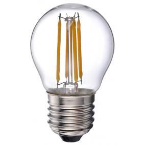 LED-G45-4W FLT E27, 2700K, filament retro LED izzó