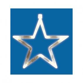 LED-es ablakdísz, csillag beltéri, 19cm