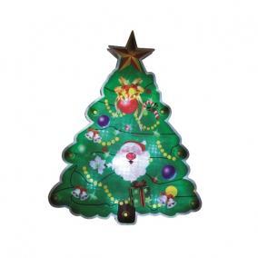 LED-es ablakdísz, karácsonyfa beltéri, 20cm
