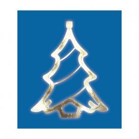 LED-es ablakdísz, karácsonyfa beltéri,19cm