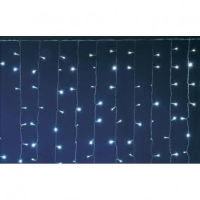 LED-es fényfüggöny, 2x2 m / 400 LED, sorolható, hidegfehér
