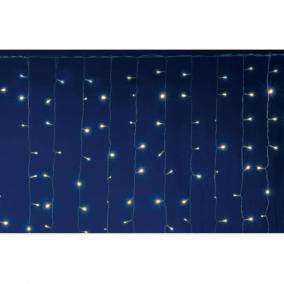 LED-es fényfüggöny, 2x3 m / 600 LED, sorolható, melegfehér
