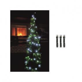 LED-es fényfüzér, 200LED, 8pr., hideg fehér, kültéri kültéri
