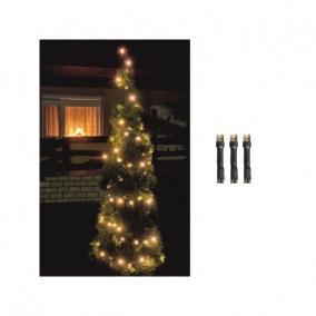 LED-es fényfüzér, 200LED, 8pr., meleg fehér, kültéri kültéri