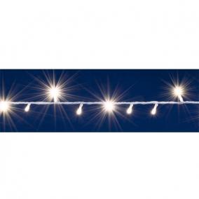 LED-es izzósor, 2 m / 40 LED, sorolható, melegfehér