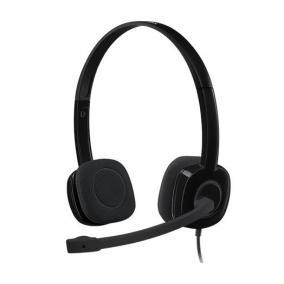 Fejhallgató, mikrofonnal, vezetékes, LOGITECH