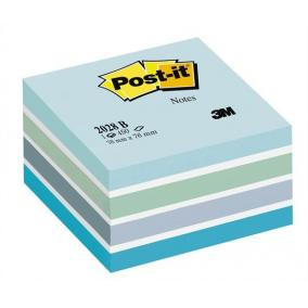 Öntapadó jegyzettömb, 76x76 mm, 450 lap, 3M POSTIT, aquarell kék [450 lap]