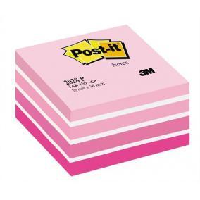 Öntapadó jegyzettömb, 76x76 mm, 450 lap, 3M POSTIT, aquarell pink [450 lap]