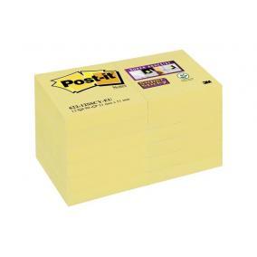 Öntapadó jegyzettömb csomag, 48x48 mm, 12x90 lap, 3M POSTIT