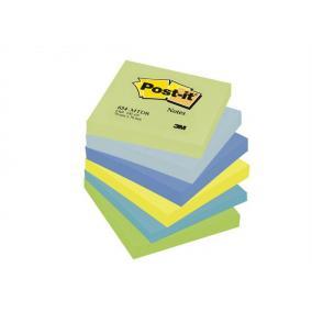 Öntapadó jegyzettömb, 76x76 mm, 100 lap, 3M POSTIT, álmodozó színek [600 lap]