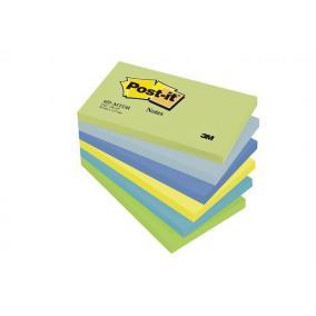 Öntapadó jegyzettömb, 76x127 mm, 100 lap, 3M POSTIT, álmodozó színek [600 lap]