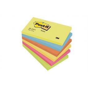 Öntapadó jegyzettömb, 76x127 mm, 100 lap, 3M POSTIT, energikus színek [600 lap]