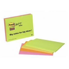 Öntapadó jegyzettömb, 149x200 mm, 45 lap, 3M POSTIT, vegyes színek [180 lap ]